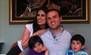 Pastor Saeed Abedini with his wife and two children.